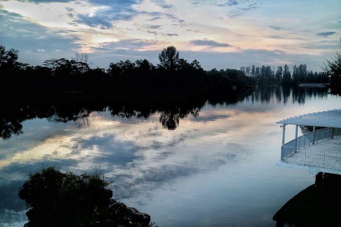 Nature Nparks Nparksbuzz Punggol Waterway Reflection Reservoir Sky Sunset Tranquility