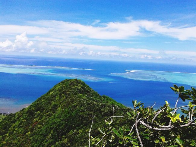 Lion Mountain Mauritius Mauritius Island  Sea Sky Nature Scenics Beauty In Nature Horizon Over Water Tranquility Blue Tranquil Scene Tree Cloud - Sky Outdoors Growth Green Color Landscape No People Day 100 Days Of Summer