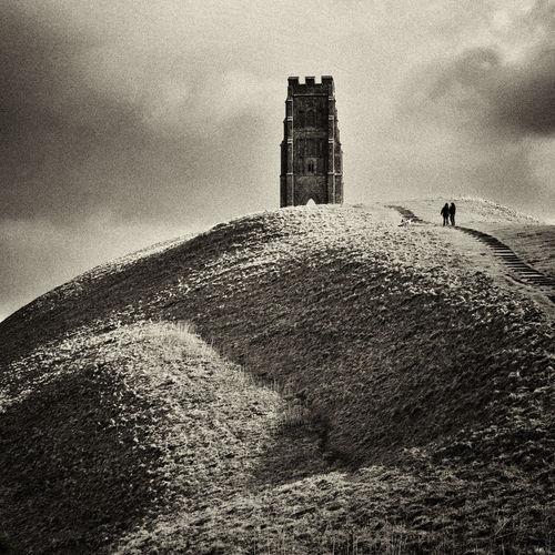 Black & White Blackandwhite Glastonbury Glastonbury Tor King Arthur Landscape Legend Sepia Somerset England Square