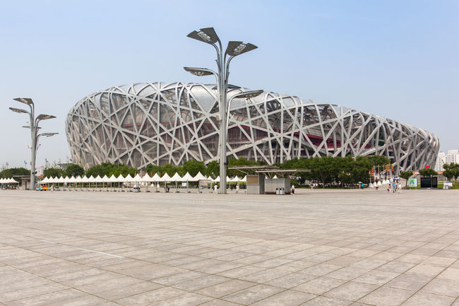 Beijing, China - Jun 20, 2016 : View of the National stadium at the Beijing Olympic Park, Beijing. Architecture ASIA Beijing Beijing, China China Famous Place Landmark Olympic Olympic Park  Park Stadium Tourism Travel Travel Destinations