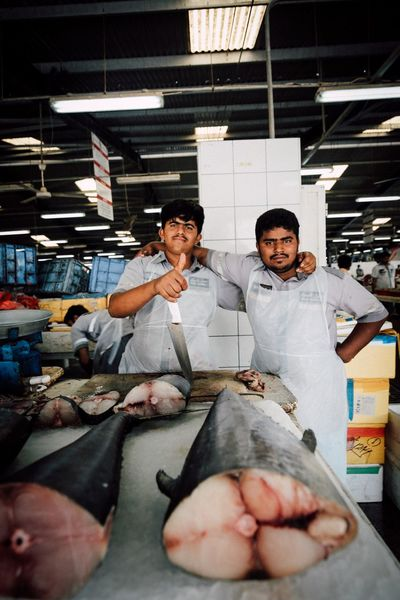 People Factory Standing Fish fish