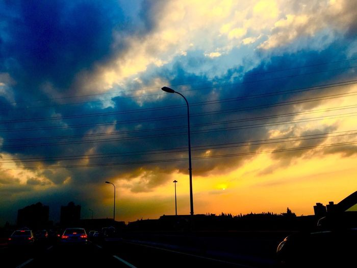On my way home Cloud - Sky Sky Car Dramatic Sky Road Street Light Electricity Pylon Roadscenes Motorway Shanghai China Iphone6 IPhoneography