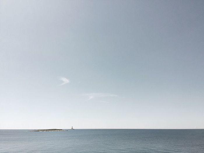 Porer, Croatia, 2017. Porer Croatia Landscape Minimal Lighthouse Sea Mediterranean Sea Adriatic Sea Copy Space Beauty In Nature Scenics Outdoors Water