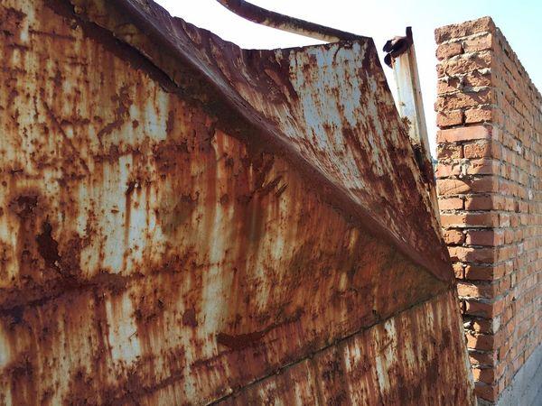 Architecture Built Structure Building Exterior Damaged Door Wall Colors Colorful Shape City City Life Destruction