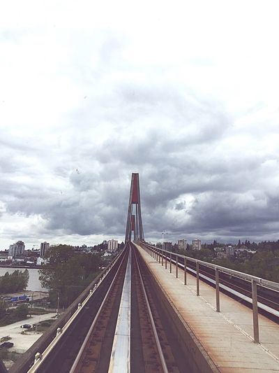 Check This Out Onthetrain On The Skytrain Skytrain Riding Riding The Train From Above  Taking Photos Urban Architecture Bridges Sky_collection Sky Bridge Newwestminster