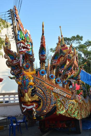 Car Line Thai Travel Handmade Day South Asian  With Corlor Backgrounds Light Ourdoor Festival Multi Colored Ornate Cultures Statue Travel Destinations Arts Culture And Entertainment No People