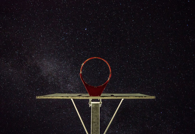 Basketball Hoop Astronomy Basketball - Sport Basketball Hoop Constellation Galaxy Low Angle View Milky Way Night Outdoors Rim Sky Space Star - Space Star Field Stars Fresh On Market 2017