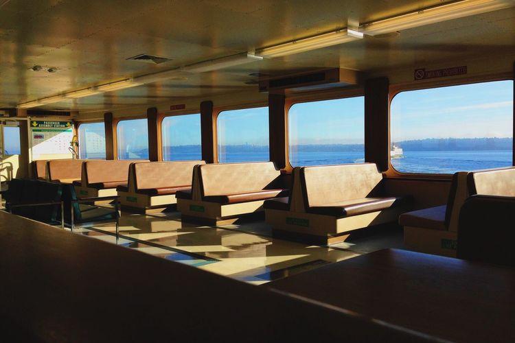 Scenic View Of Sunlight Shining Through Interior Of Boat