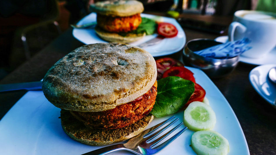 👌 according to my taste Healthy Lifestyle Healthy Food Veg Burger Table Fork Foodphotography Food Presentation food stories Dharamshala Foodstagram Best Food Ever Food To Eat Close-up Bread Breakfast Green Leaf Hilltop Travel Photography Food Lover Fast Food Restaurant Fast Food Best Food Ive Ever Had Good Burger  No People Indoors  Ready-to-eat Close-up Healthy Eating Day