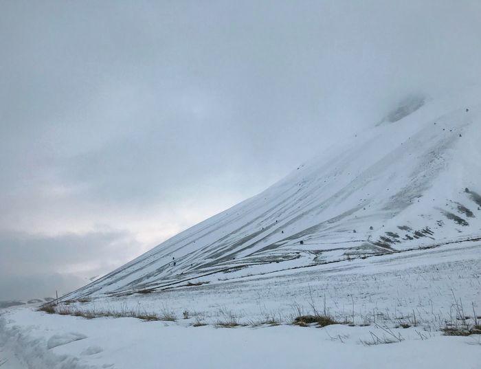 Foggy Snow Cold Temperature Winter Landscape Scenics - Nature Sky Mountain Environment Cloud - Sky