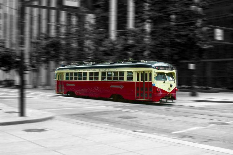 Blurred Motion Day Mode Of Transport Motion No People Outdoors Public Transportation Rail Transportation San Francisco Speed Train Train - Vehicle Transportation