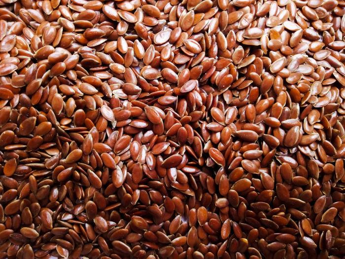 Full frame shot of flaxseeds
