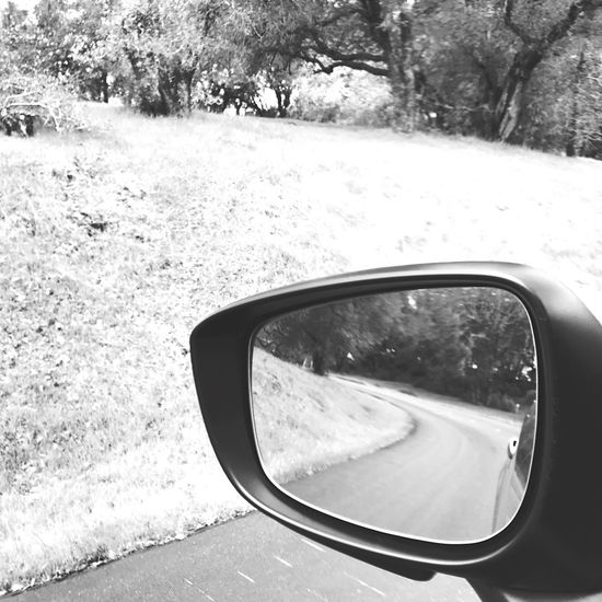 Coming And Going Side-view Mirror Car Transportation Road Vehicle Mirror Reflection Land Vehicle Nature Vehicle Part Mode Of Transport No People Outdoors Motion