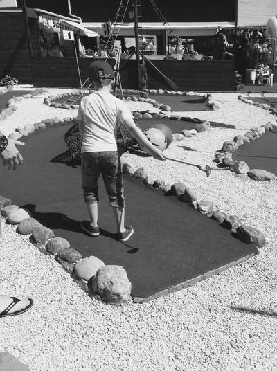 Casual Clothing Childhood Childhood Memories City Life Day Family Family Fun Family Fun Time Family Time Family Time ♥ Full Length Fun Fun Times Golf Leisure Activity Lifestyles Mini Golf Mini Golfing Outdoors Sunlight Sunny Sunny Sunny Day Sunny Days Withernsea