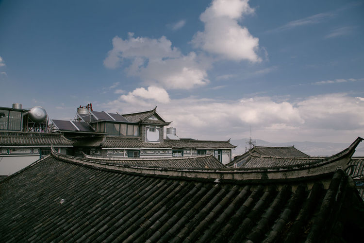 Roof of building against sky