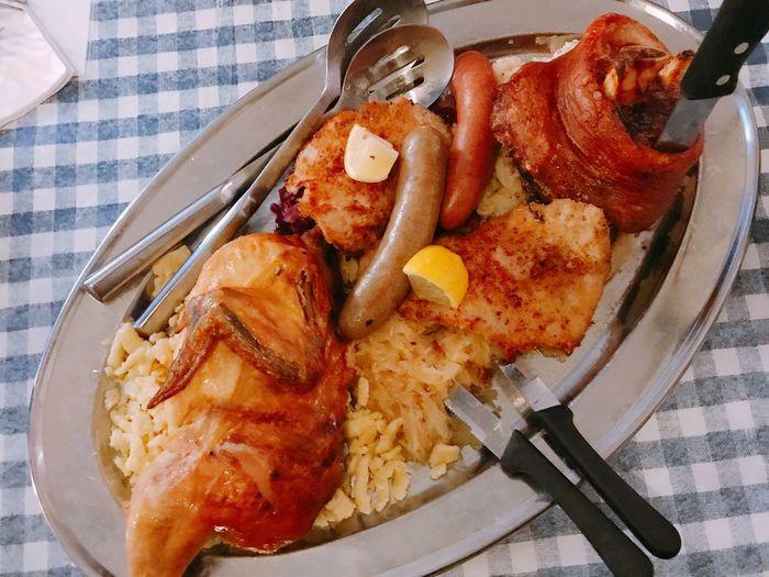 Pre Christmas dinner @leavenworth Skipwork Escape From Reality Getaway  Leavenworth Wa German Food Foodie Leavenworth Town Leavenworth German Village Meat Freshness