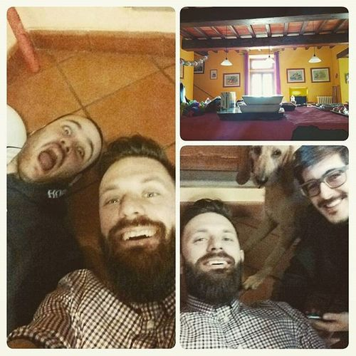 You know it's been a good party when you find yourself on the floor, drunk... Partyhard HappyBirthday Florence Drunk Beard Beardstagram Instabeard Friends Compleanno Briachi Drunkenselfie Toomuchwine