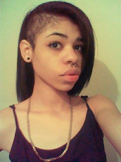 Septum Skrillex  California Cali Straight Hair Mixed Septum Peircing Skrillex Hair Side Cut Light Skin