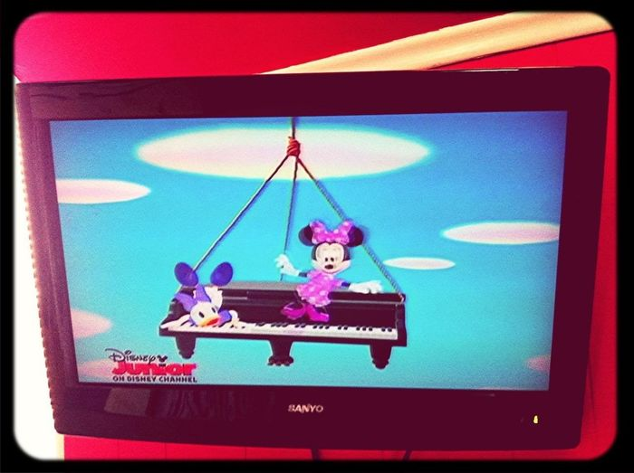 Oh Ya Know. Just Watching Mickey Mouse Jr.☺