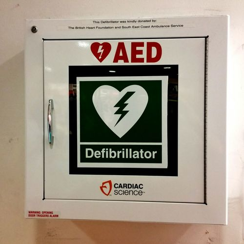 Defibrillator these are popping up in town centres all over the country