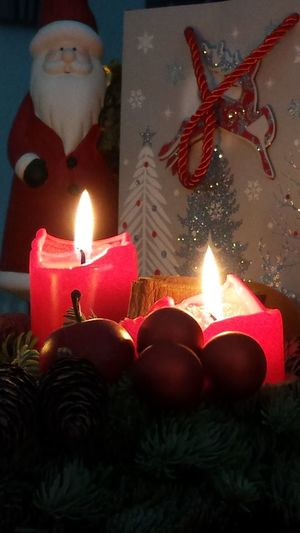 Merry Christmas ♡ Flame Candle Burning Celebration Illuminated Christmas Indoors  Holiday - Event Christmas Lights Warm Atmosphere For My Friend That Connect The Purist (no Edit, No Filter) Femalephotographerofthemonth Enjoying Life Christmas Christmas Decoration Merry Christmas🎄🎅🏻 Decoration Santa Claus Warm Feeling Interior Design Advent Wreath Atmopshere Taking Photos