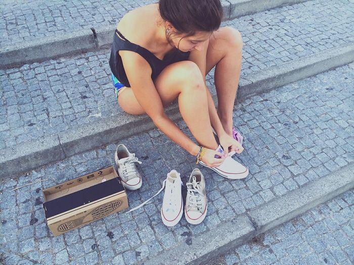 Quand mes chaussures passent le flambeau aux nouvelles.♻