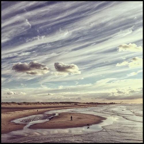 Tranquil Scene Sea Beauty In Nature Beach Tranquility Cloud - Sky Sky Iphonephotography Water Dutch Sky Scheveningen  Nederlandse Luchten Waterfront Nederland Autumn Colors Sealandscape