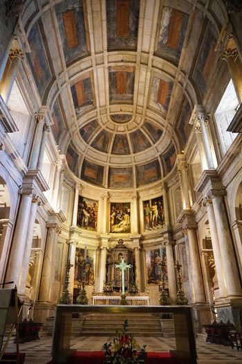 2015  Architecture Church Church Of Santa Maria Lisboa Lisbon Mosteiro Dos Jerónimos Portugal Religion Spirituality World Heritage サンタマリア教会 ジェロニモス修道院 ポルトガル Arch Fresco