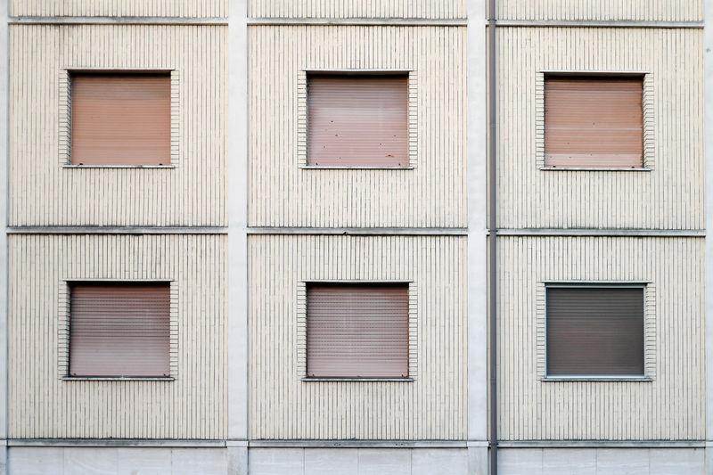 Old popular building windows