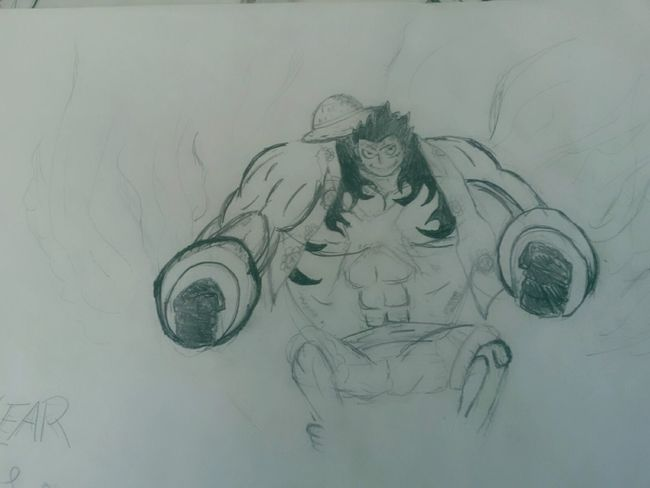 One Piece Luffy Anime :3 ^.^'  Manga Fan Art Manga~ 4gears Art Gallery GymLife Day Copyright©