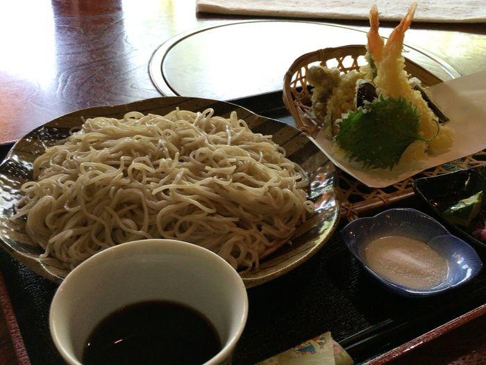 温泉後に天ざるそばを食す❤︎ Lunch Lunch Time! Soba Tenpura Japanese Food Japanese Culture Nofilter#noedit No Filter, No Edit, Just Photography Sakunami Onsen Soba Noodles Sendai Hello World