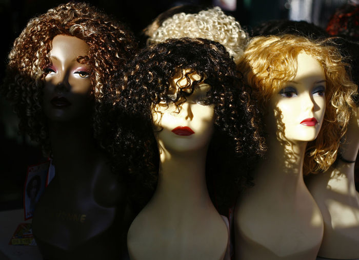 TÊTE À TÊTE Close-up Day Female Likeness Human Representation Mannequin Retail Display Store Wigs
