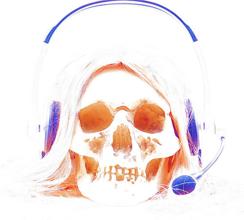 Answer Call Center Headphones Help Desk Operator Phone Skull Work First Eyeem Photo