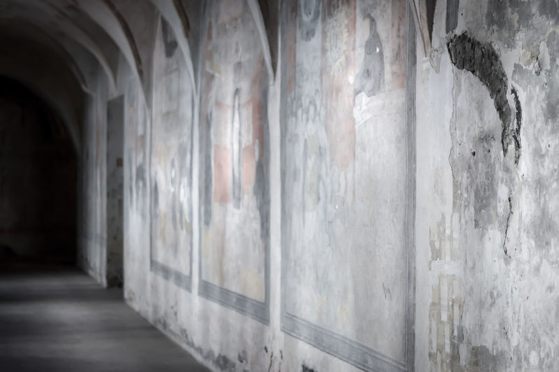 Fresco on a wall in monastery Architecture Church Monastery Wall Art Arts Culture And Entertainment Church Architecture Convent Fresco Friars Nun
