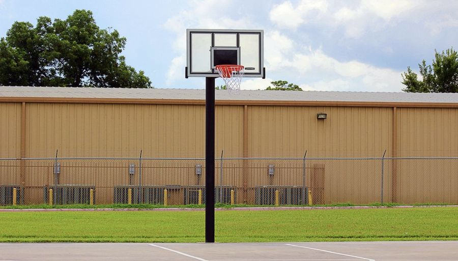 Basketball Court Love Basketball Basketball Game Dream Basketball - Sport Court Goal No People Outdoors Playground Sky Sport Fence Closed Schoolyard Outdoor Play Equipment