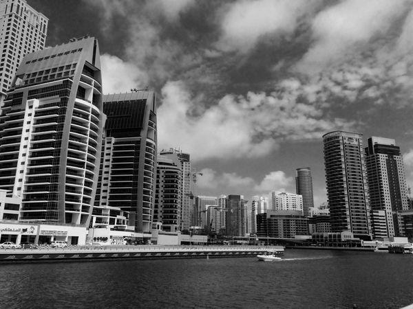 marina IPhoneography AkosiArny The Places I've Been Today EyeEm Best Shots Mydubai Portrait Black And White Landscape EyemDubai Eyem Best Shot - Architecture