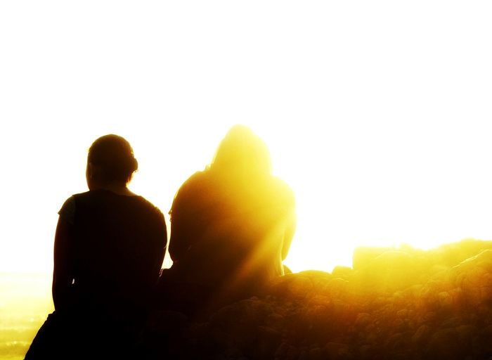 Silhouette Togetherness Back Lit Real People Rear View People Leisure Activity Enjoyment Outdoors Bacpacker Wanderlust Tranquility Scenics Cliff Tranquil Scene Beauty In Nature Sunset Mountain Rocks Rear View Close-up Long Goodbye The Secret Spaces