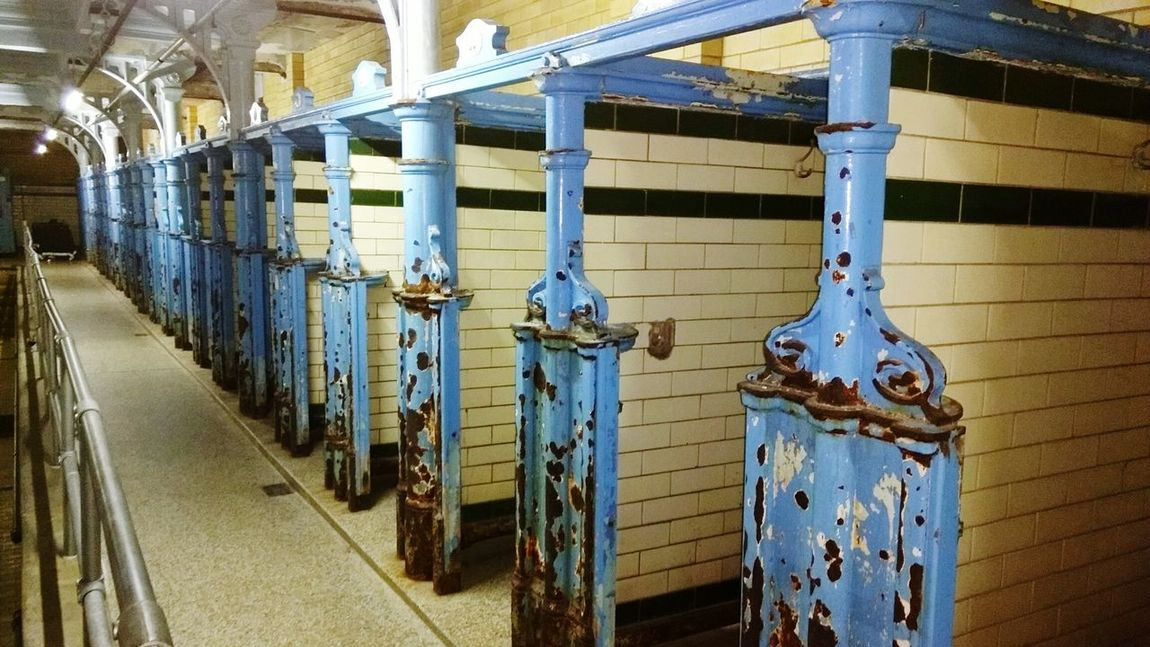 Indoors  No People Victorian Architecture Victorian Ironwork Booths Changing Booths Decay And Dereliction Vintage Swimming Baths Victoria Baths Restoration Wedding Venue