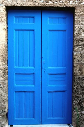 Door Blue Protection Architecture Closed Day Safety Security Outdoors No People Close-up First Eyeem Photo