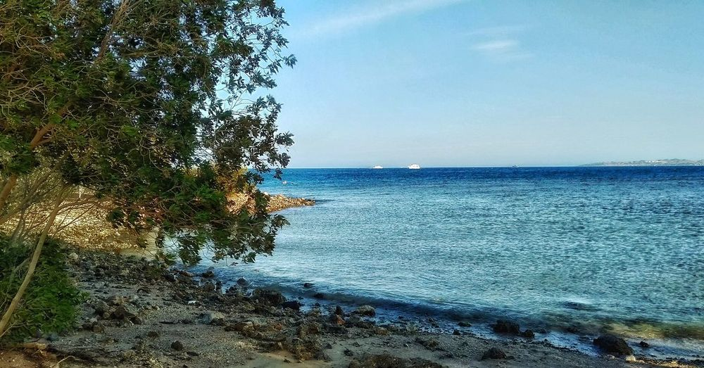 Egypt Egyptian Culture Egyptphotography Red Sea This Is Egypt ❤ Beauty In Nature Mobilephotography Horizon Over Water Hurghada Shore Sand Wave Calm Seascape Coast