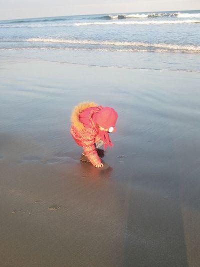 Child playing at beach