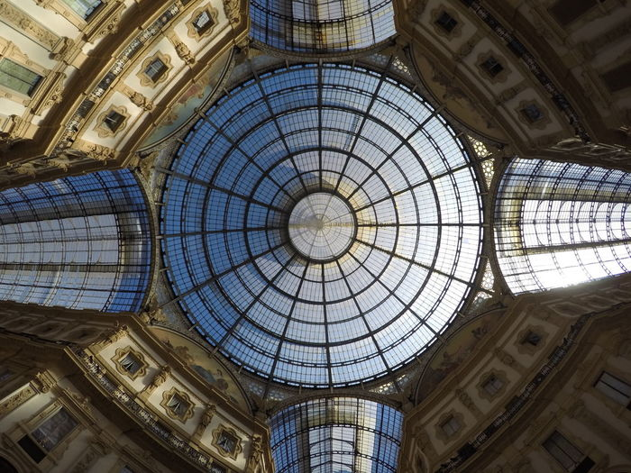 Architectural Feature Architecture Architecture And Art Built Structure Ceiling Cupola Day Directly Below Dome Glass - Material History Indoors  Low Angle View No People Ornate Pattern Skylight The Past Tourism Travel Destinations