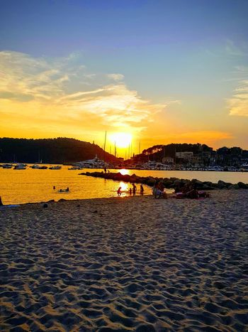 Sóller Sunset Water Nautical Vessel Sea Sunset Beach Sand Yacht Summer Sailboat Harbor
