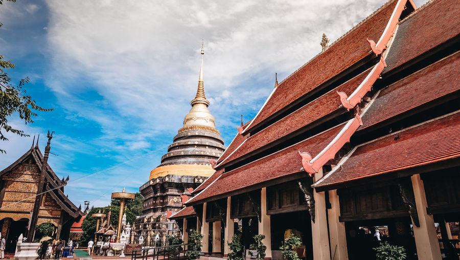Lampang Thailand Belief Building Built Structure Cloud - Sky Lampang | Thailand Outdoors Religion Sky Tourism Travel Travel Destinations