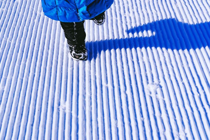 Wintertime Winter Snow Snow ❄ Playing In The Snow Running Playing Fun Pattern Child Body Part Low Section Pattern Real People One Person Human Leg Day Outdoors Cold Temperature