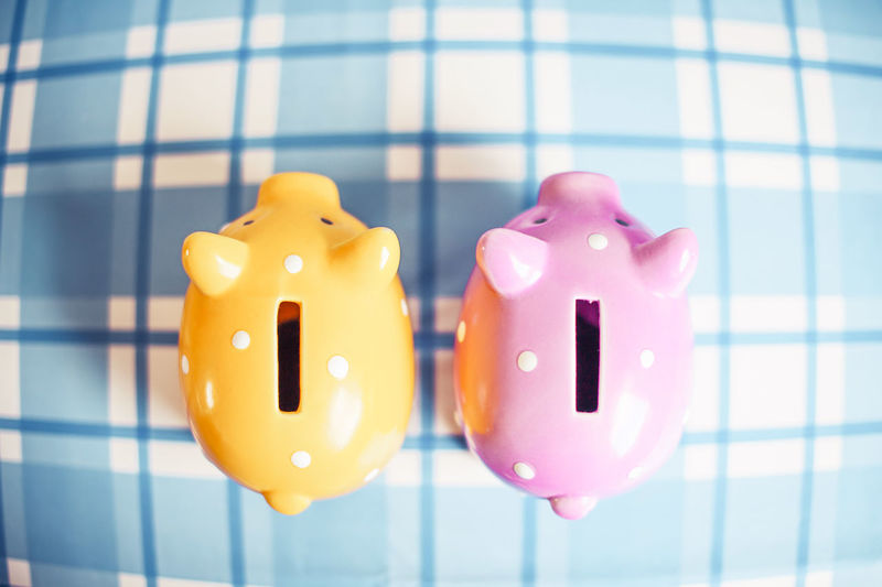 Piggy bank Piggy Bank Pink Color Indoors  Close-up Business Finance Savings Animal Representation Investment Coin Bank Double Rich Money Buying Funny Together Poverty Money Box Stingy Table Small Pig Crisis Luck Save Money