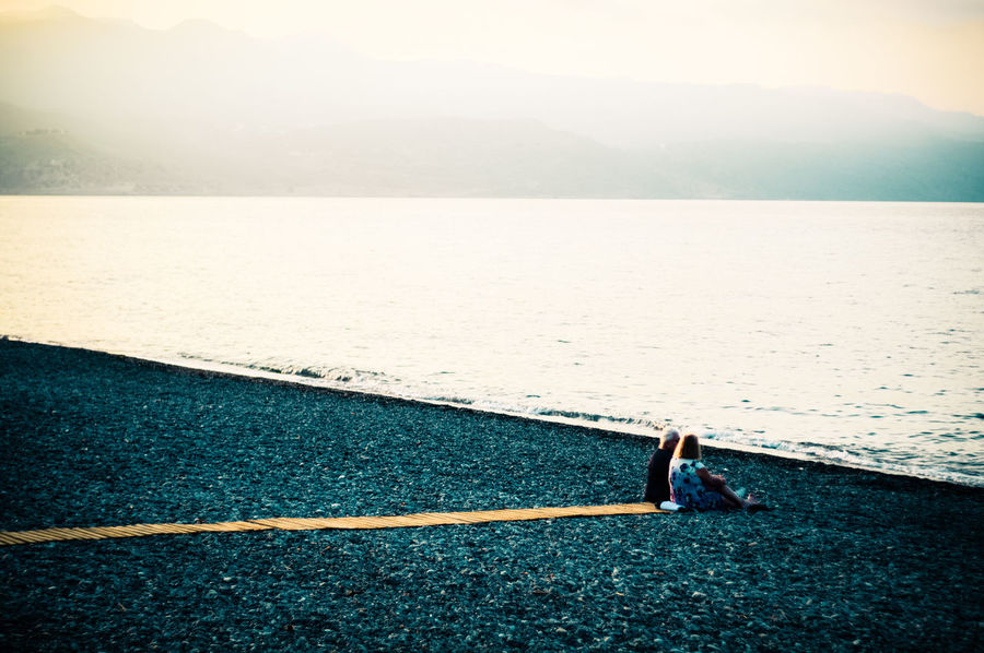 Arid Climate Beach Coastline Escapism FootPrint Getting Away From It All Horizon Over Water Minimal Minimalism Outdoors Relaxing Sand Sea Seaside Shore Summer Tranquility Vacations Vintage Wave