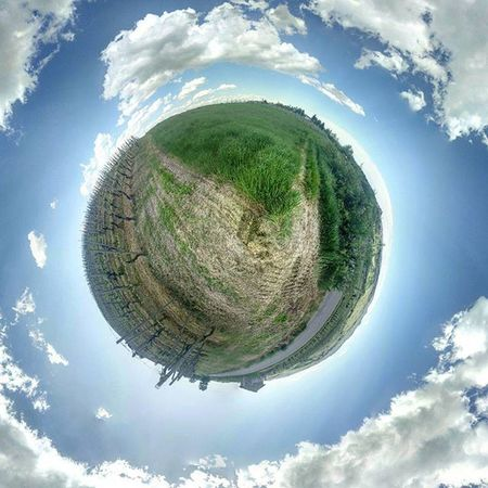 Tiny little earth! 🌍 View Beautiful Sky Nature Landscape Amazing Sun Clouds Travel Beach Mountains Mountain Nofilter Trees Trip Photooftheday Panorama Spring Pretty Awesome Bluesky Onepluslife Oneplus Tiny Planet tugapower oneplusone @oneplustech @oneplushots
