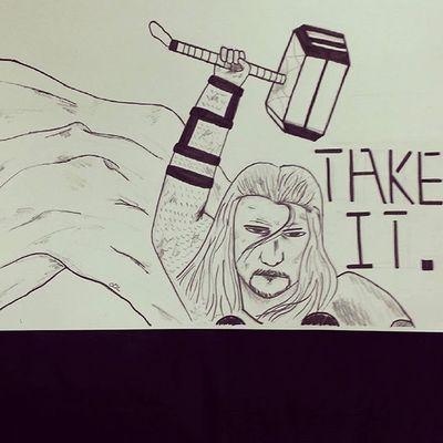 그림 그림스타그램 낙서 Draw Drawing Illust Illustagram Illustration Pen 펜 한글 Korean Marvel Avengers Thor  마블 어벤져스 토르