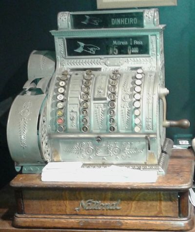 Antique Cash Register Close-up History Indoors  Old Money Old-fashioned Oldwest Retro Styled